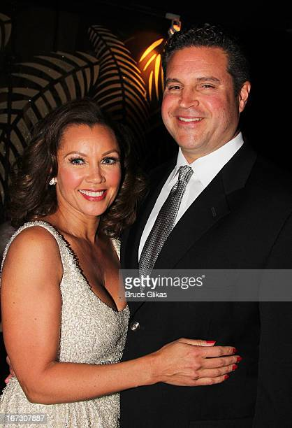 Vanessa Williams and boyfriend Jim Skrip attend the after party for the Broadway opening night of The Trip To Bountiful at The Copacabana on April 23...