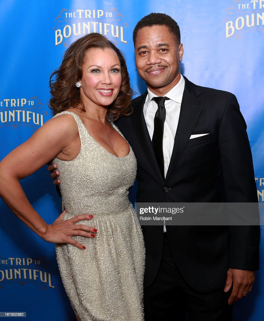 Vanessa Williams (L) and Cuba Gooding Jr attend the after party for the Broadway opening night of 'The Trip To Bountiful' at Copacabana on April 23, 2013 in New York City.