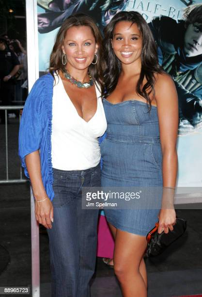 Vanessa Williams and daughter attends the Harry Potter and the HalfBlood Prince premiere at Ziegfeld Theatre on July 9 2009 in New York City