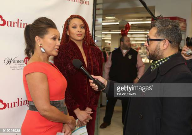Vanessa Williams and daughter Jillian Hervey get interviewed at The 7th Annual #KnockOutHeartDisease Campaign Launch at Burlington Union Square on...