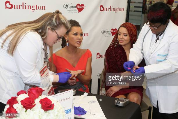 Vanessa Williams and daughter Jillian Hervey have free medical exam at The 7th Annual #KnockOutHeartDisease Campaign Launch at Burlington Union...