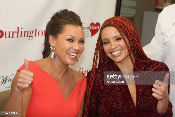 Vanessa Williams and daughter Jillian Hervey pose at The 7th Annual #KnockOutHeartDisease Campaign Launch at Burlington Union Square on February 6,...
