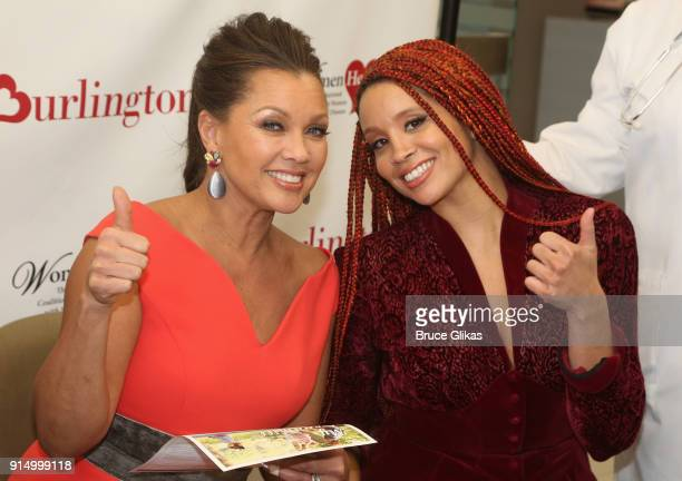 Vanessa Williams and daughter Jillian Hervey pose at The 7th Annual #KnockOutHeartDisease Campaign Launch at Burlington Union Square on February 6...