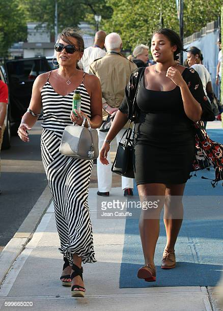 Vanessa Williams and daughter Sasha Fox attend Venus and Serena Williams backtoback matches at Arthur Ashe Stadium on day 8 of the 2016 US Open at...