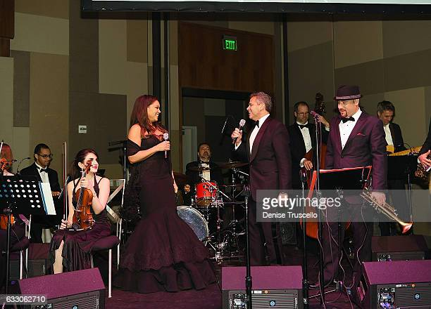 Vanessa Williams and David R Weinreb sing a duet during the Nevada Ballet Theatre's 2017 Woman of the Year Gala at the Aria Resort Casino on January...