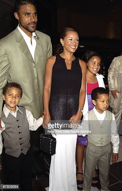 Vanessa Williams and her children Devin and Jillian with friend Rick Fox and his son Kyle attending the opening of the animated movie Tarzan at Kips...