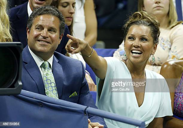 Vanessa Williams and her husband Jim Skrip attend the 15th Annual USTA Opening Night Gala on Day 1 of the 2015 US Open at USTA Billie Jean King...