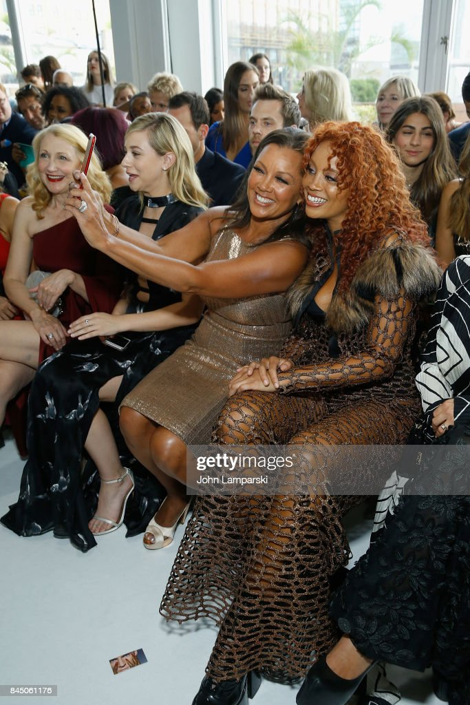Vanessa Williams and Jillian Harvey attends the Christian Siriano collection during the September 2017 New York Fashion Week: The Shows at Pier 59 on September 9, 2017 in New York City.