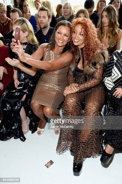 Vanessa Williams and Jillian Hervey attend the Christian Siriano fashion show during New York Fashion Week The Shows at Pier 59 on September 9 2017...