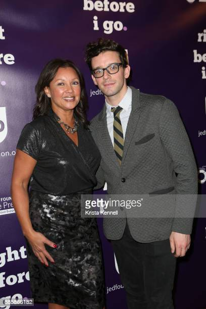 Vanessa Williams and Michael Urie attend Right Before I Go One Night Only Benefit Performance at Town Hall on December 4 2017 in New York City