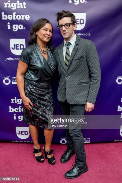 Vanessa Williams and Michael Urie attend the 'Right Before I Go' Benefit performance at Town Hall on December 4 2017 in New York City