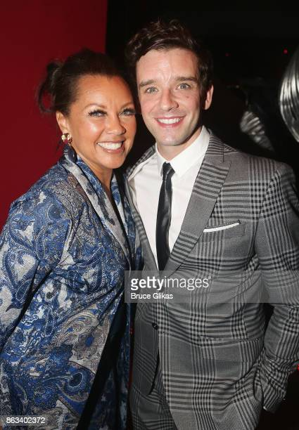 Vanessa Williams and Michael Urie pose at the after party for the Second Stage Theatre Company production of 'Torch Song' at The Copacabana on...