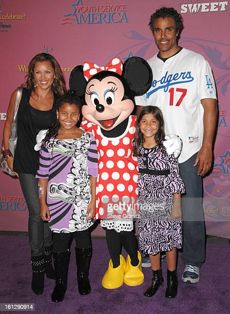 Vanessa Williams and Rick Fox arrives at the Miley Cyrus's Sweet 16 Celebration At Disneyland on October 5 2008 in Anaheim California