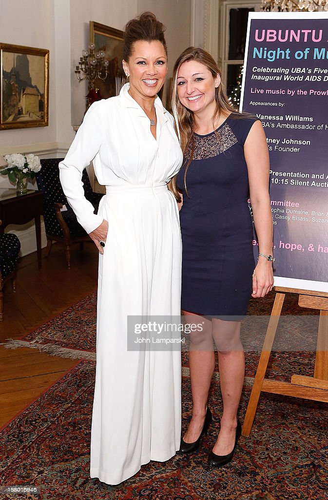 Vanessa Williams and Whitney Johnson attend the 2012 Ubuntu Africa Worlds AIDS Day Benefit at Salmagundi Arts Club on December 8, 2012 in New York City.