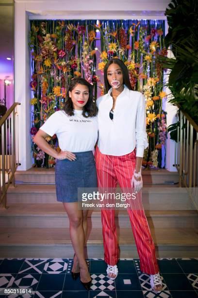Vanessa Williams and Winnie Harlow take a break from fashion week to celebrate the launch of Kimpton De Witt Amsterdam Kimpton Hotels Restaurants'...