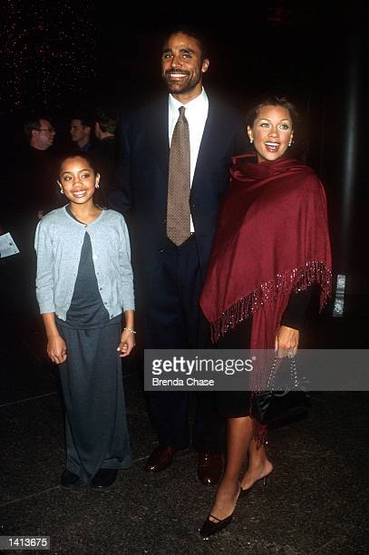 Vanessa Williams arrives for the premiere of the TNT Original Film Don Quixote with her husband basketball player Rick Fox and her daughter Melanie...