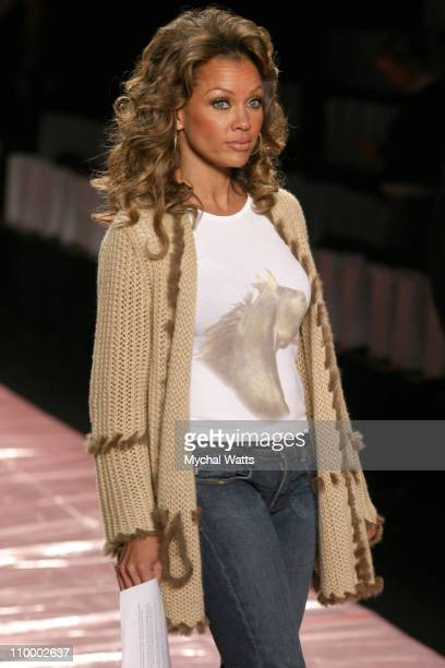 Vanessa Williams at Red Dress Collection 2005 during Olympus Fashion Week Fall 2005 Red Dress Collection Front Row and Backstage at The Tent Bryant...