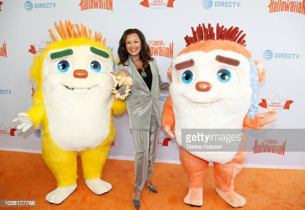 Vanessa Williams attends The Legend of Hallowaiian orange carpet premiere on September 22 2018 in Los Angeles California