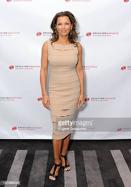 Vanessa Williams attends the Something to Share Dress for Success 15th anniversary gala at the Grand Hyatt on April 3 2012 in New York City