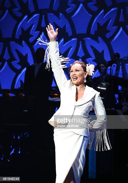 Vanessa Williams during the Curtain Call as she debuts in the smash hit Broadway Musical 'After Midnight' at The Brooks Atkinson Theatre on April 1...