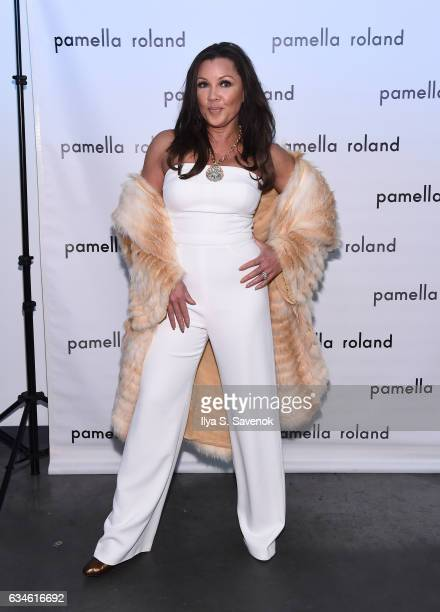 Vanessa Williams poses backstage at the Pamella Roland fashion show during New York Fashion Week at Pier 59 Studios on February 10, 2017 in New York...