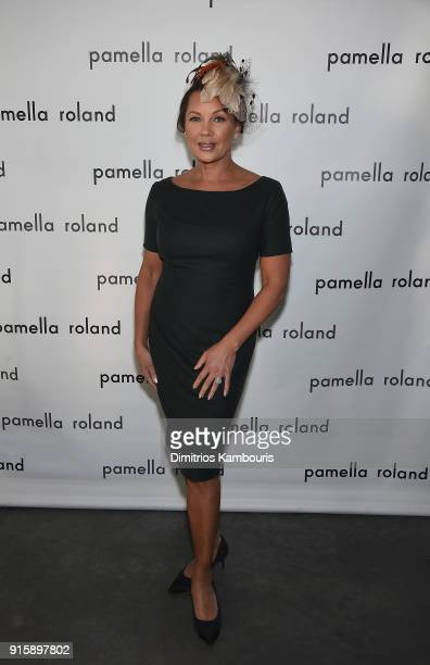 Vanessa Williams poses backstage during the Pamela Roland New York Fashion Show at Pier 59 on February 8 2018 in New York City