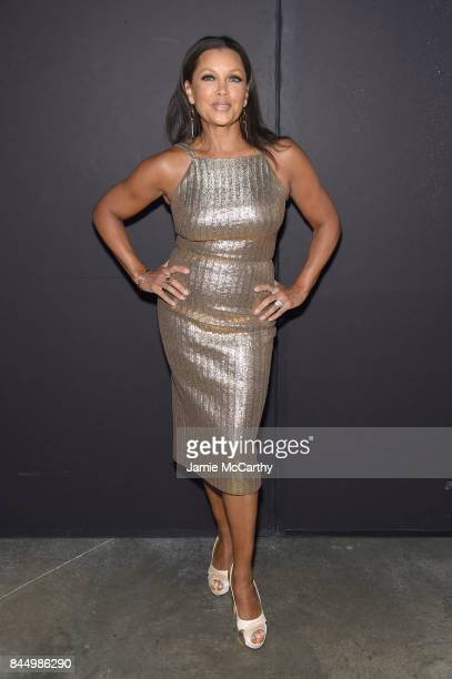 Vanessa Williams poses backstage for the Christian Siriano fashion show during New York Fashion Week The Shows at Pier 59 on September 9 2017 in New...