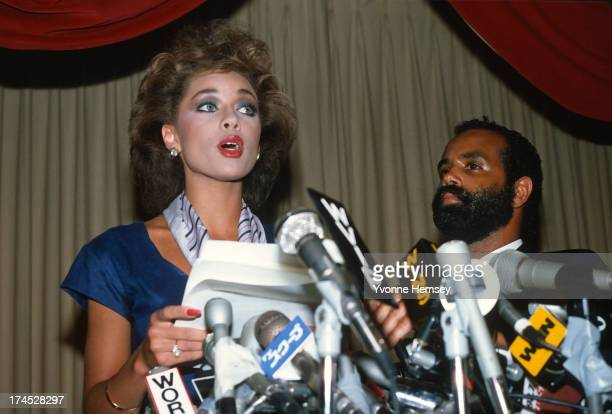 Vanessa Williams resigns her Miss America title July 23 1984 in New York City Nude photographs of Miss Williams and another woman surfaced forcing...