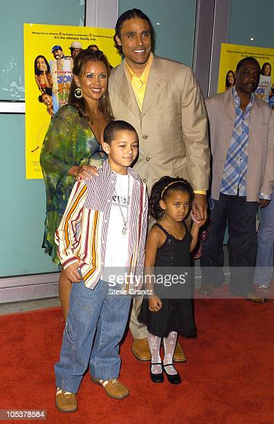 Vanessa Williams Rick Fox and Children during Johnson Family Vacation Los Angeles Premiere at Cinerama Dome in Hollywood California United States