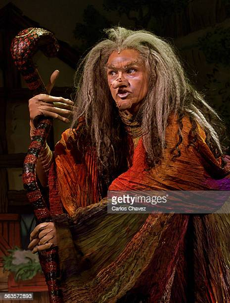 Vanessa Williams transforms from an ugly witch to a younger and beautiful witch in Steven Sondheim's newly reworked musical 'Into the Woods' at...