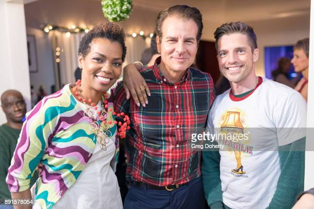 Vanessa Williams Vincent de Paul and Scott Bailey attend The Bay Ugly Sweater And Secret Santa Christmas Party at Private Residence on December 12...