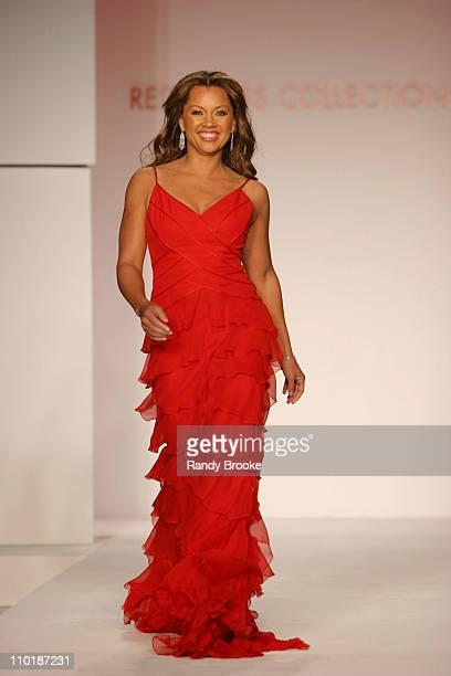 Vanessa Williams wearing Carmen Marc Valvo for The Heart Truth