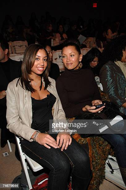 Vanessa Williams with daughter Melanie Hervey at the The Promenade Bryant Park in New York City New York