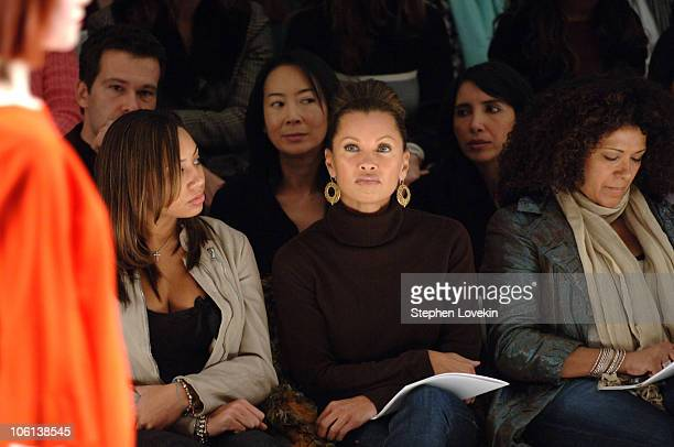 Vanessa Williams with daughter Melanie Hervey during MercedesBenz Fashion Week Fall 2007 Charles Nolan Front Row and Backstage at The Promenade...