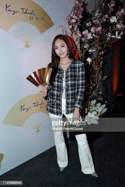 Vanessa Yang attends the 80th Kenzo Takada Birthday Party at Pavillon Ledoyen on February 28 2019 in Paris France
