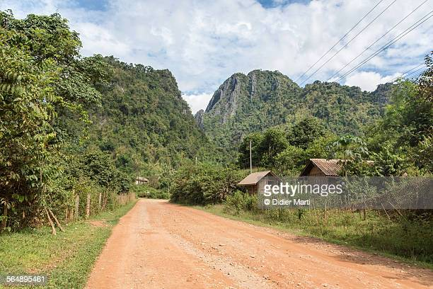 vang vieng countryside in laos - didier marti stock photos and pictures