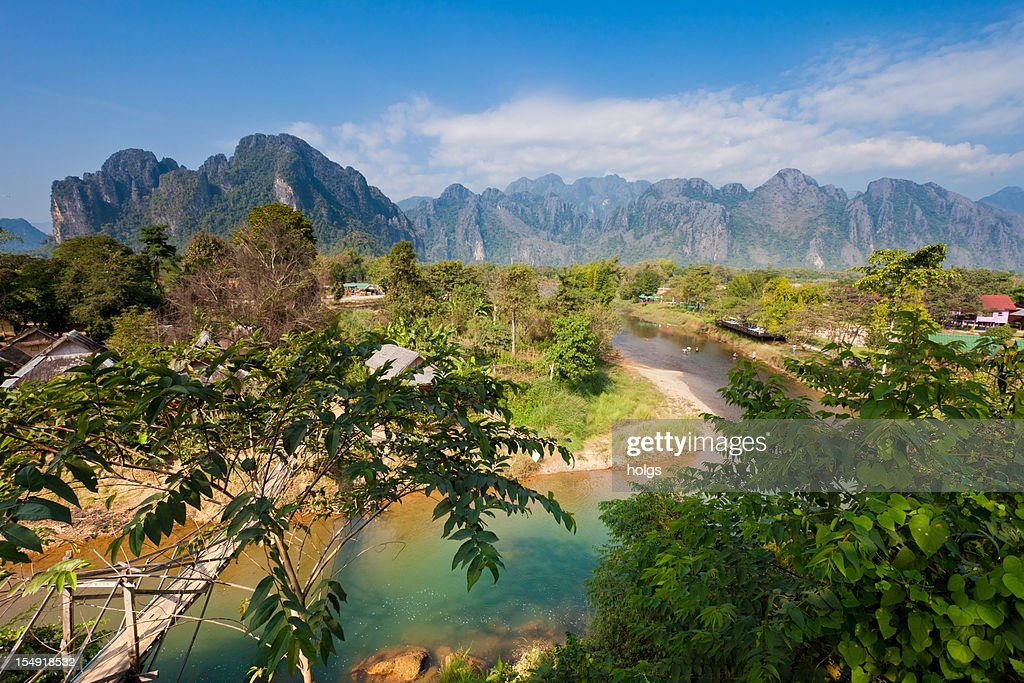 Vang Vieng Laos : Stock Photo