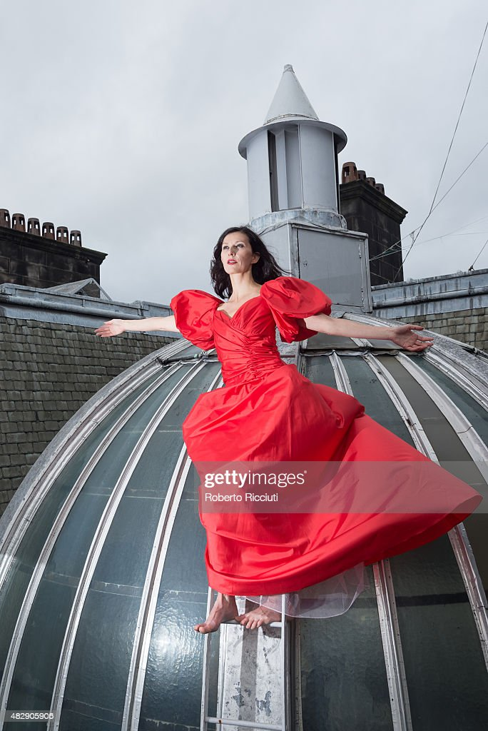 Vangeline performs at 'Butoh Beethoven' photocall during Edinburgh Festival Fringe previews at New Town Theatre on August 4, 2015 in Edinburgh, Scotland.