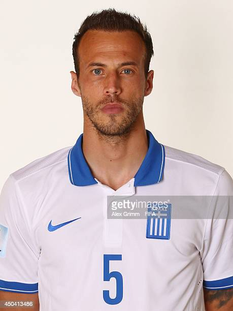 Vangelis Moras of Greece poses during the official FIFA World Cup 2014 portrait session on June 10 2014 in Aracaju Brazil