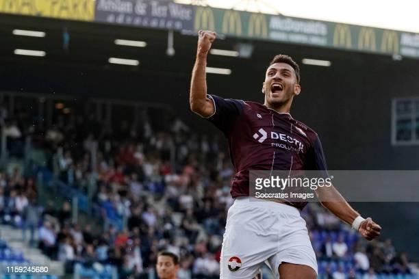 Vangelis Pavlidis of Willem II celebrates 1-1 during the Dutch Eredivisie match between PEC Zwolle v Willem II at the MAC3PARK Stadium on August 2,...