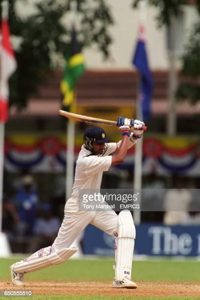 Vangipurappu Laxman of India batting