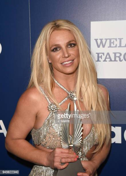 Vanguard Award recipient Britney Spears poses backstage at the 29th Annual GLAAD Media Awards at The Beverly Hilton Hotel on April 12 2018 in Beverly...