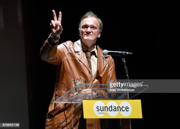 Vanguard Award recipient Quentin Tarantino speaks onstage at Sundance NEXT FEST After Dark at The Theater at The Ace Hotel on August 10 2017 in Los...