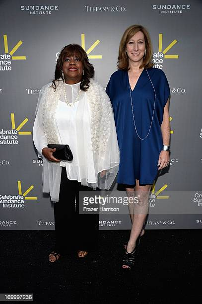 Vanguard Leadership Award recipient Chaz Ebert and Sundance Institute Executive Director Keri Putnam attend the 2013 'Celebrate Sundance Institute'...