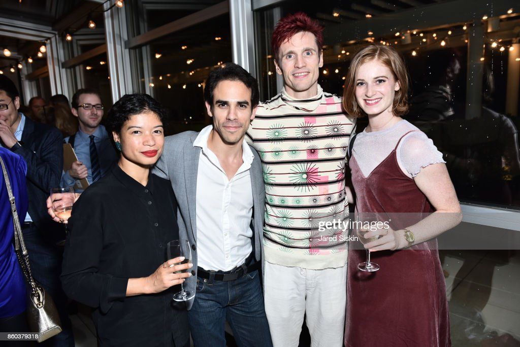 Vania Doutel Vaz, Francisco Graciano, Manuel Vignoulle and Jane Cracovaner attend Joshua Beamish + MOVETHECOMPANY Premieres 'Saudade' in NYC at Brooklyn Academy of Music on October 11, 2017 in New York City.