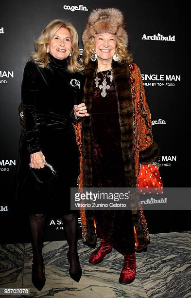 Vania Traxler Protti and Marta Marzotto attend 'A Single Man' Milan Premiere on January 11 2010 in Milan Italy