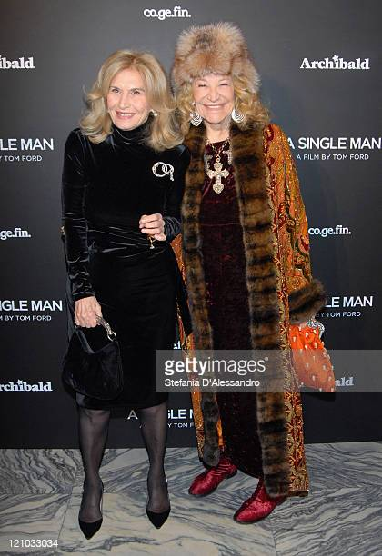 Vania Traxler Protti and Marta Marzotto attend the A Single Man premiere on January 11 2010 in Milan Italy
