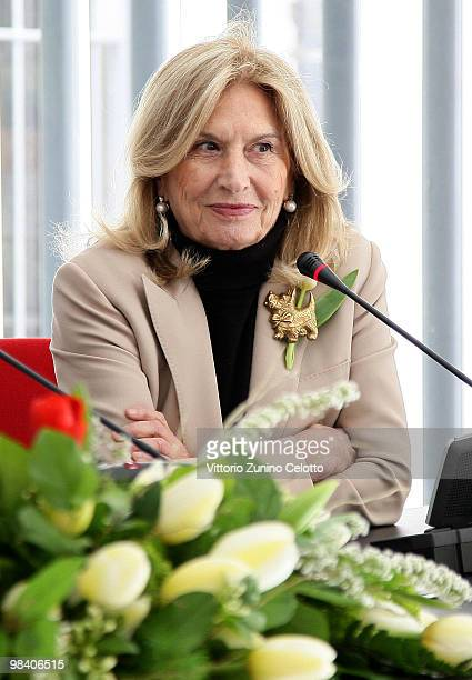 Vania Traxler Protti attends Life During Wartime press conference held at Palazzo Morando on April 12 2010 in Milan Italy