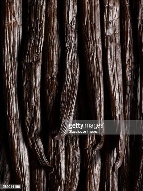 vanilla beans, close up - vanilla stock pictures, royalty-free photos & images