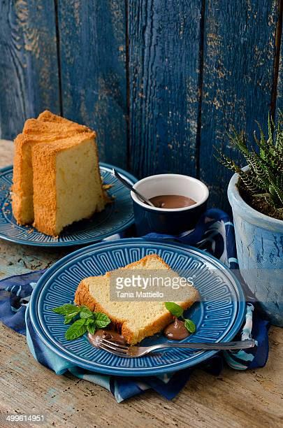 vanilla chiffon cake - シフォン ストックフォトと画像